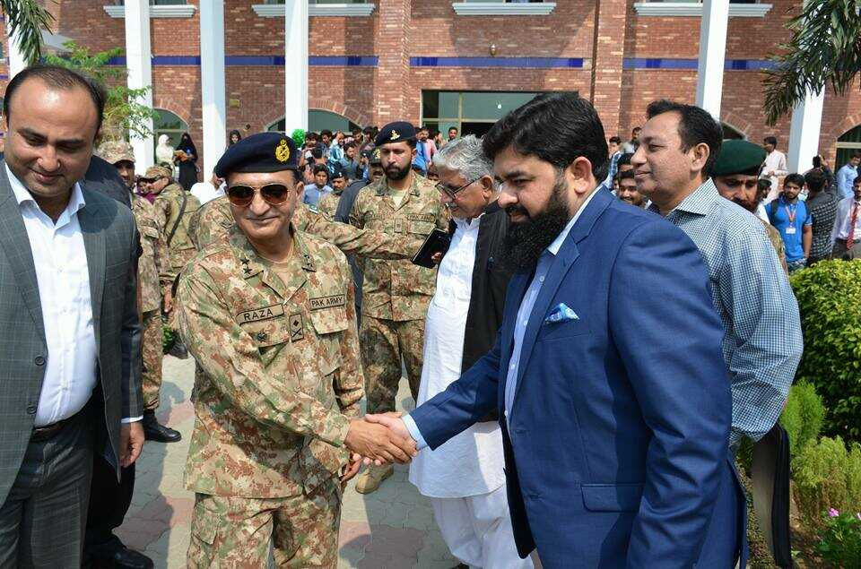 A visit of Maj. General Raza