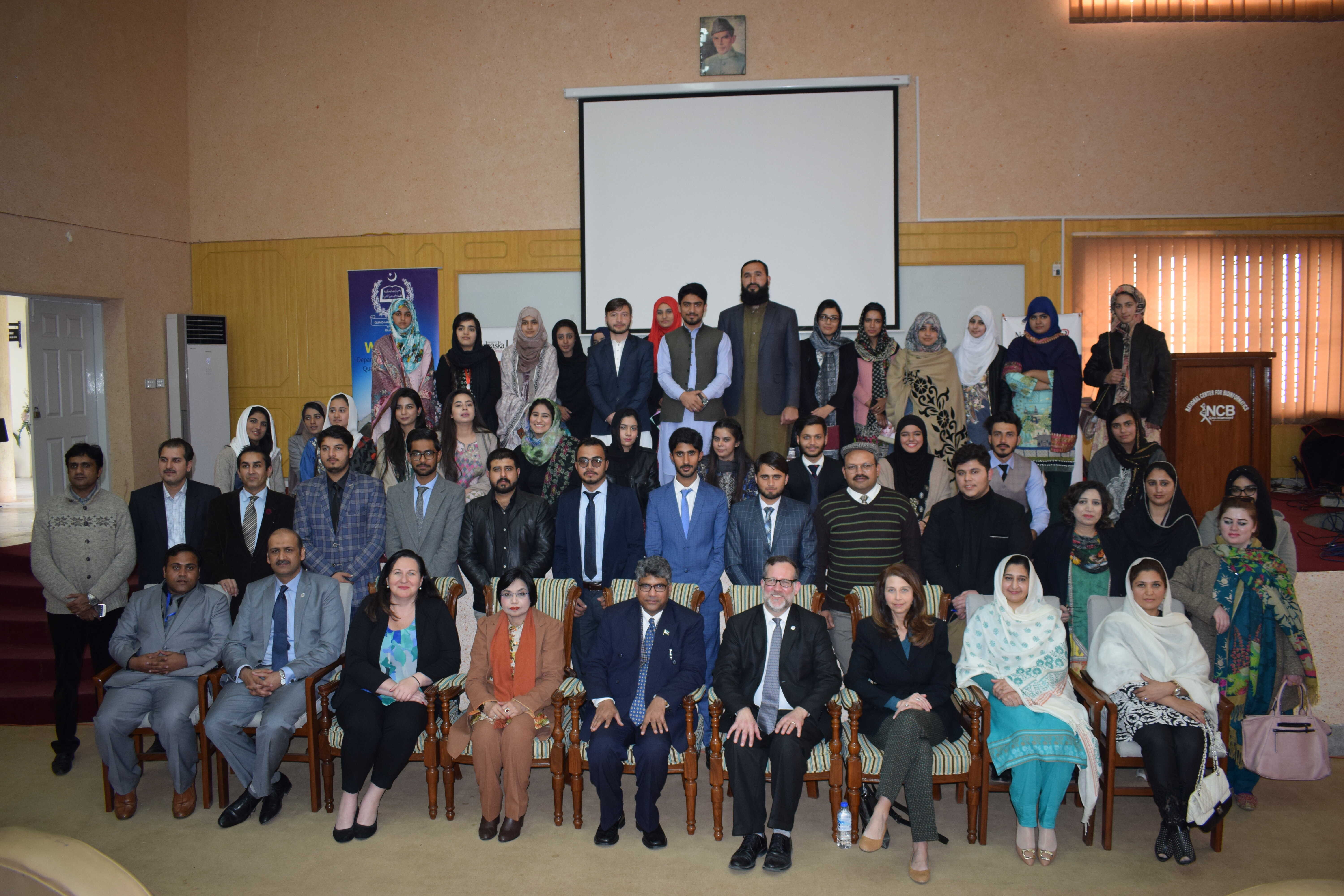 University of Sialkot and University of Nebraska USA - working groups closer to making dreams of students and faculty come true. Vice Chancellor USKT Prof. Dr. Ijaz A. Qureshi, Director Social Sciences Prof. Dr Farhat Jabeen, Faculty and Students participated in a session at Quaid e Azam University Islamabad to promote social entrepreneur culture.