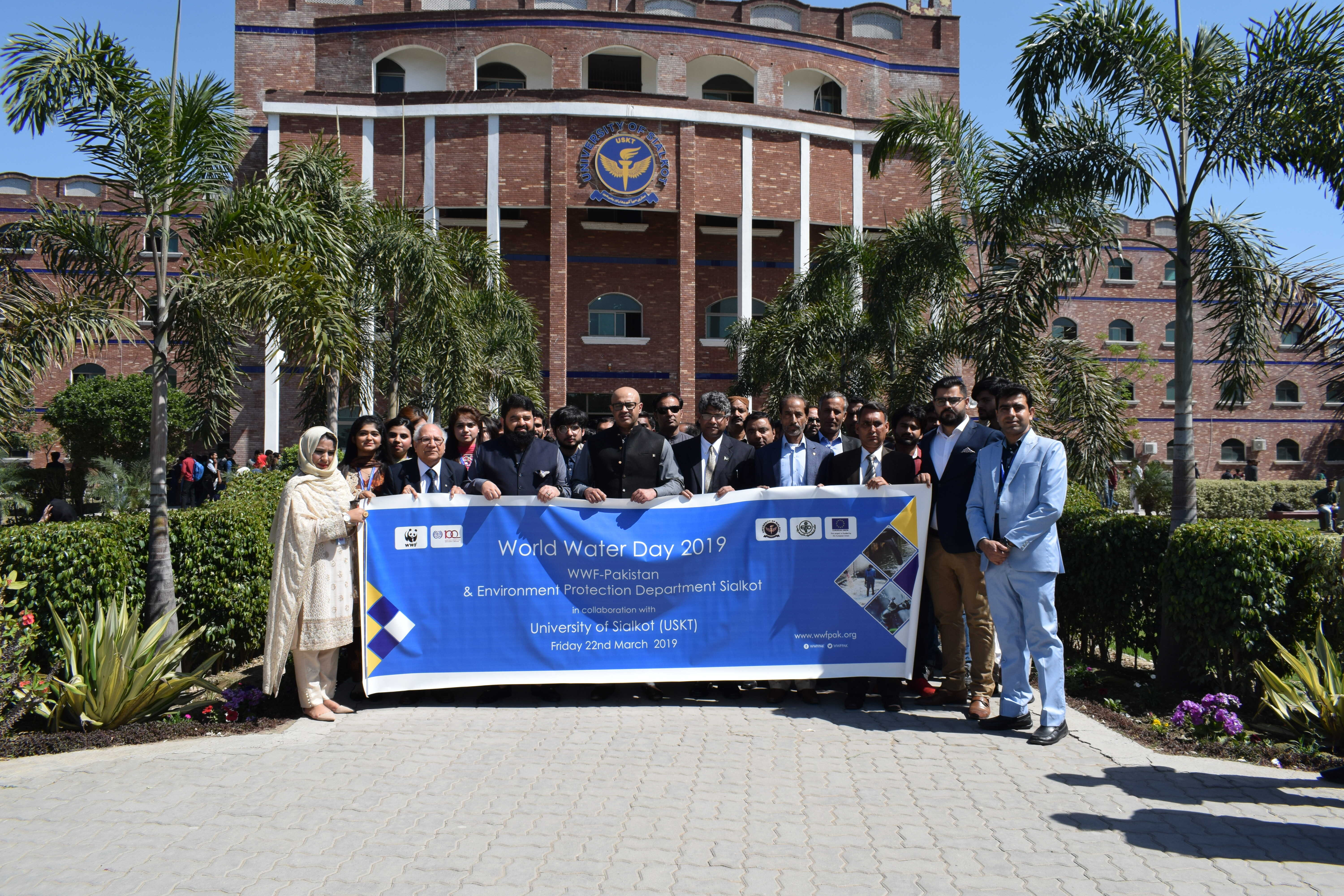 University of Sialkot organized a seminar on the topic of Water crises and Environmental Protection to highlights the water problems in Pakistan. Mr. Rizwan (Minister of environmental protection, Punjab) and Mr. Adeel (senior officer of WWF Pakistan) were the Chief Guests of this event.