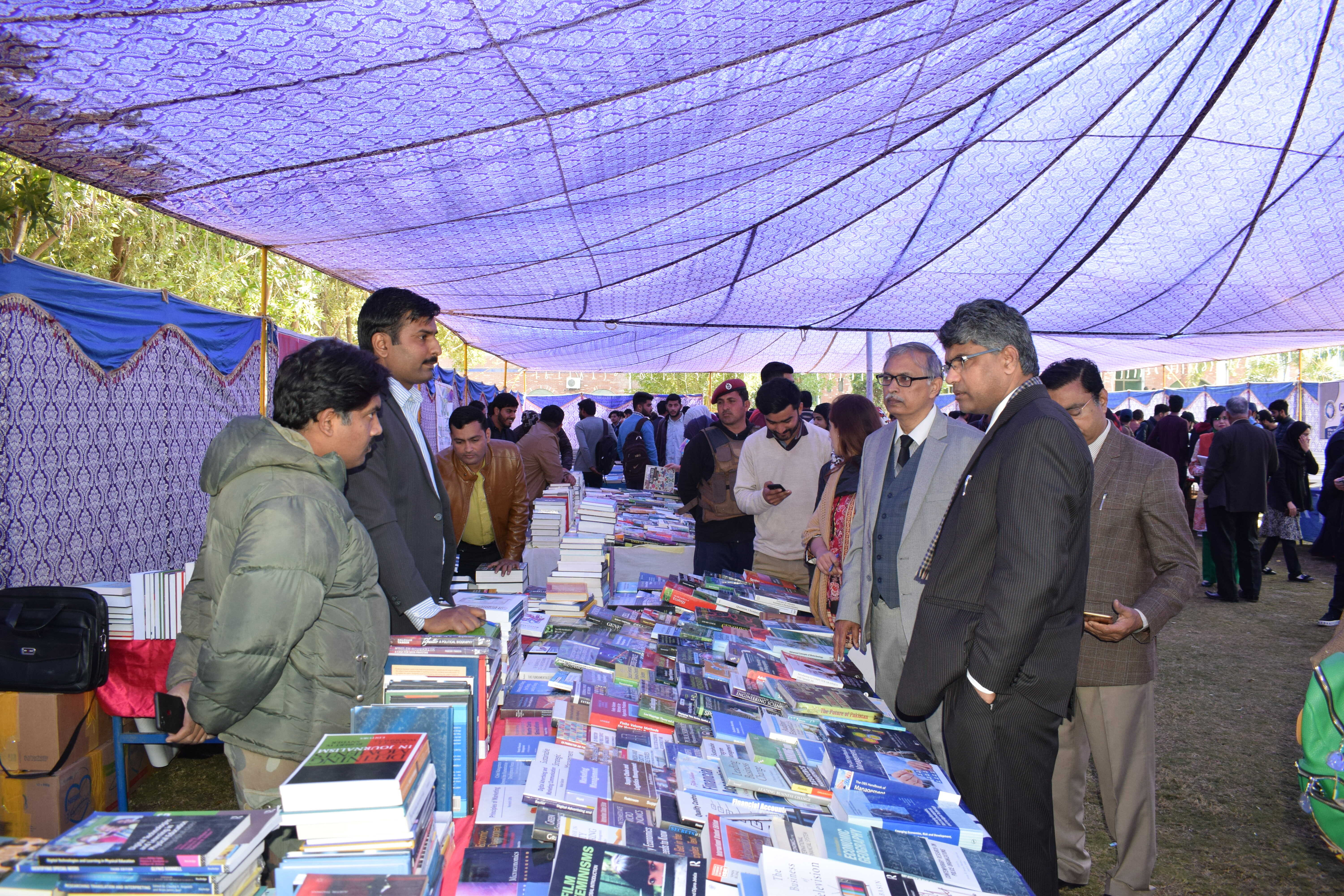 Two days Book fair opening ceremony done by the Vice Chancellor USKT Prof. Dr Ijaz A. Qureshi. Faculty and Students also participated and visited books stalls at USKT Lawn.